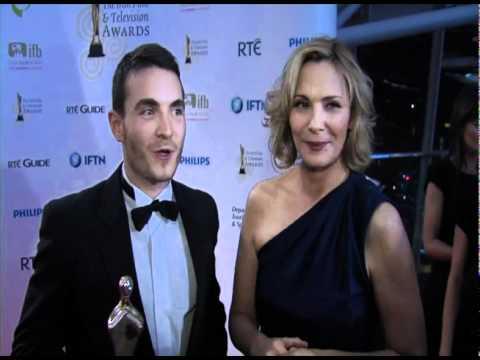 Martin McCann & Kim Cattrall  backstage at the Irish Film & Television Awards 2011