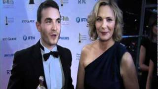 Martin McCann & Kim Cattrall interview backstage at the Irish Film & Television Awards (2011)