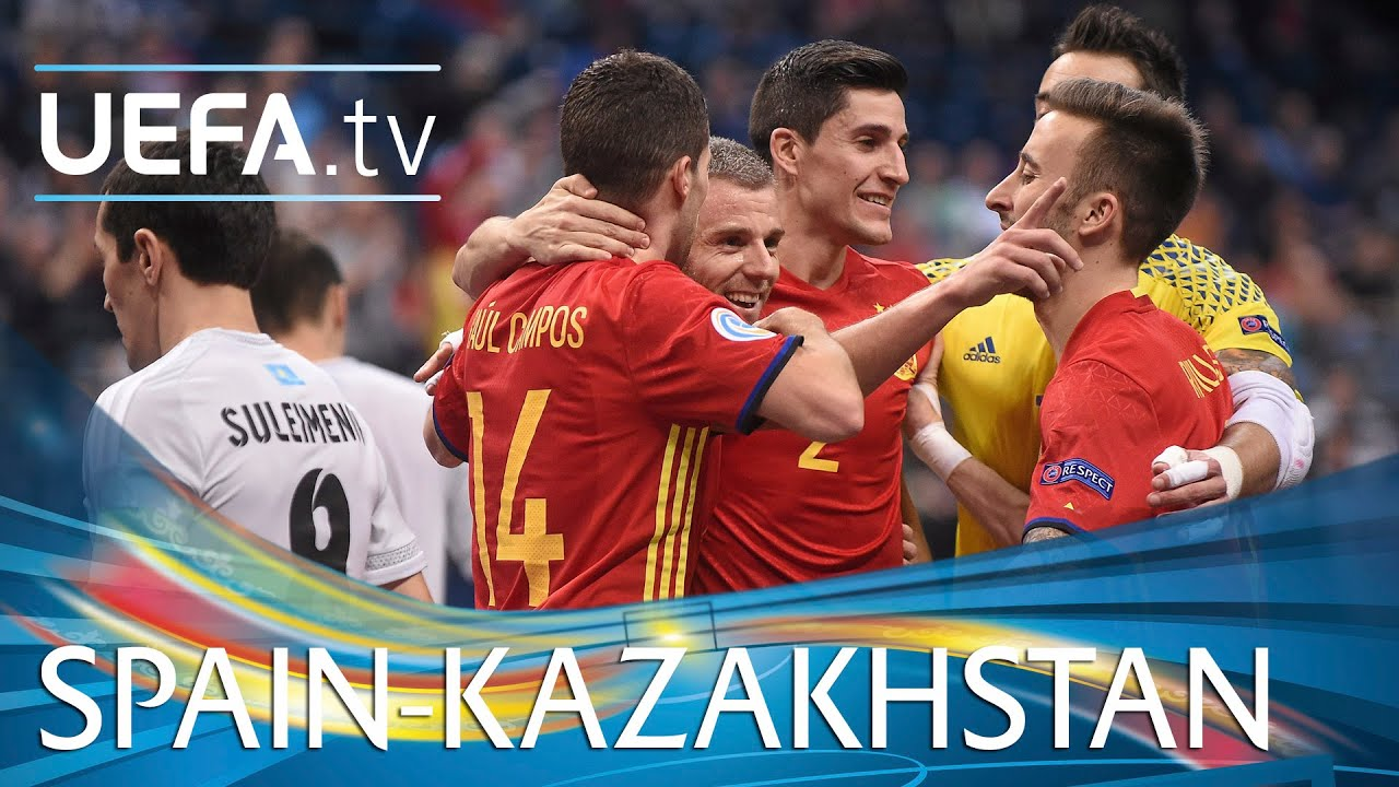 Futsal EURO Highlights  Watch Spain survive Kazakhstan fightback. UEFA.tv 812bdedea994e