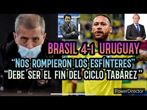 """Brasil 4-1 Uruguay ⚽️ SERÉ y BELO en lapidario Post Partido • """"Nos rompieron los esfínteres"""" 🎧"""