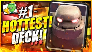The STRONGEST New Golem Deck in Clash Royale Now!! ZERO SKILL NEEDED TO WIN! 🏆 Best Golem Deck 2021