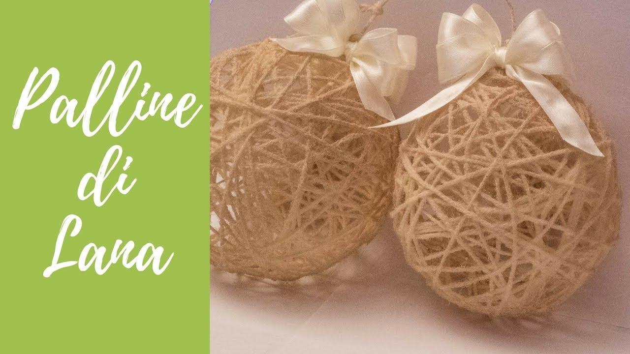 Lavoretti Di Natale Con Colla Vinilica.Tutorial Palline Di Natale Shabby Con Lana Christmas Wool Balls Eng Sub