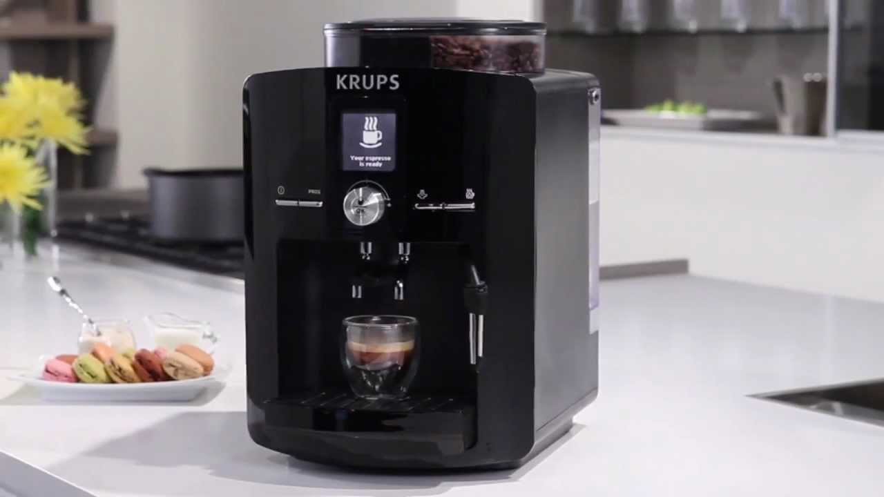krups ea82 full automatic coffee espresso machine youtube. Black Bedroom Furniture Sets. Home Design Ideas