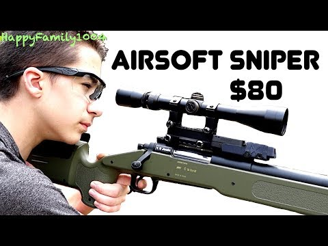 Best Budget Airsoft Sniper Rifle! $80!