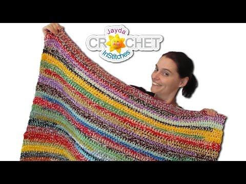 Easy Stash Buster Crochet Blanket - 2 Style Scrapghan!