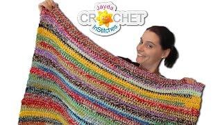 Easy Stash Buster Crochet Blanket Scrapghan Tutorial