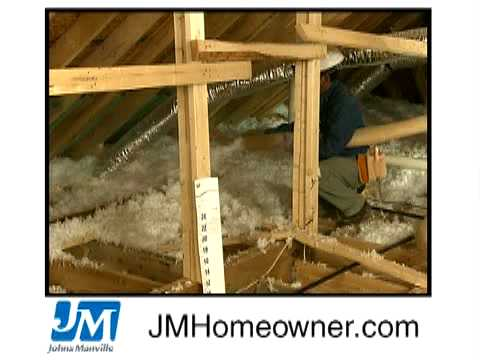Installing Blown In Insulation Youtube