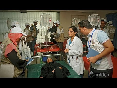 Yemen health team trained on tackling cholera by icddr,b