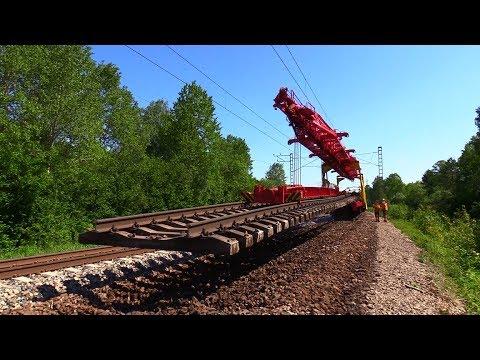 Капитальный ремонт ж.д. 1/8 -  Снятие старых решеток / Track repair 1/8 - Removing old track