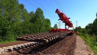 Күрделі жөндеу ж.д. 1/8 - Алу, ескі торлардың / Track repair 1/8 - Removing old track