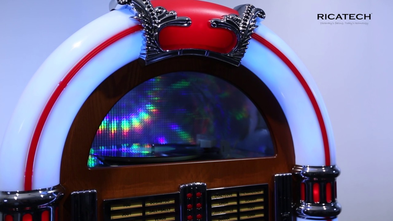 Ricatech Rr2100 7 Colour Led Full Size Retro Jukebox With