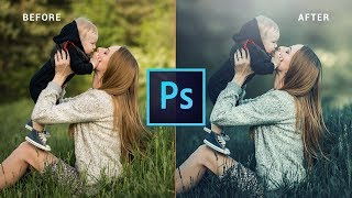 Photoshop cc Tutorial: MOM and BABY outdoor portrait | Photo editing