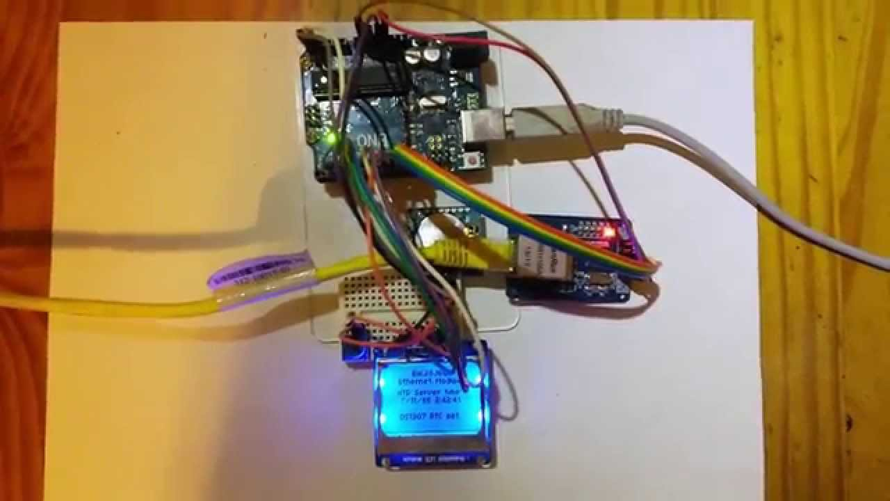 Using an ENC28J60 Ethernet Module to sync an Arduino and an RTC using an  NTP time server
