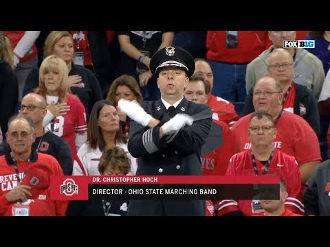 OSU and Northwestern combined bands play National Anthem
