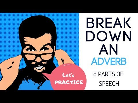 8 Parts of Speech Adverb Practice and Grammar Rules