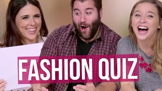 WHAT'S AN EAR JACKET? Guys Fashion Quiz (Beauty Break)