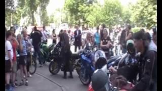 Байкерская свадьба в Гродно. Леша и Аня, для вас.wmv