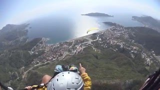 Черногория Будва обучение полетам на параплане