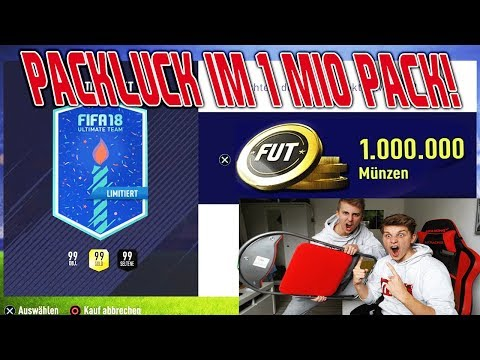 Extremes PACKLUCK im 1.000.000 COINS FUT BIRTHDAY PACK! 🤑🔥 Fifa 18 Pack Opening Ultimate Team