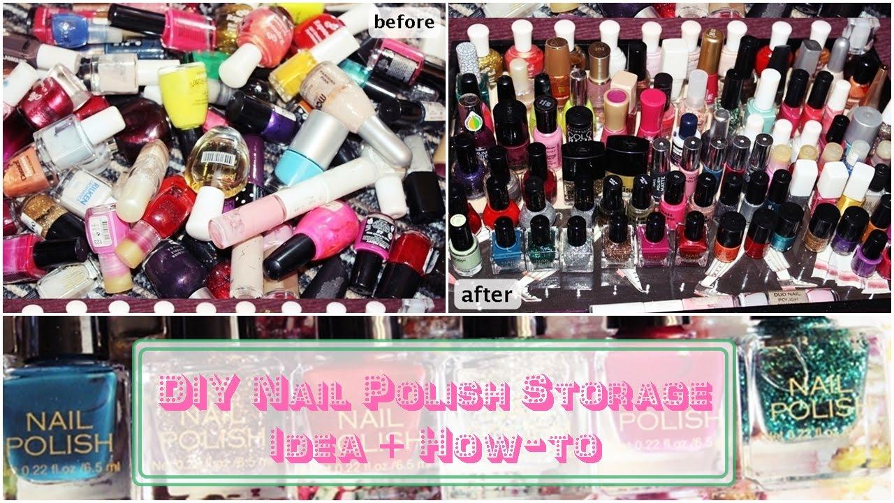 DIY Nail Polish Storage Idea + How-to - YouTube