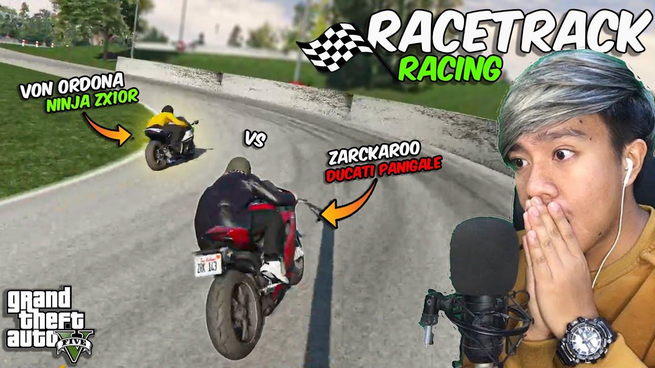 Von Ordona v.s Zarckaroo RACETRACK RACING!! (Ninja vs Ducati)