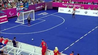 Football 5-a-side - GBR vs ESP - Men's - B1 Preliminaries- 1st Half - London 2012 Paralympic Games