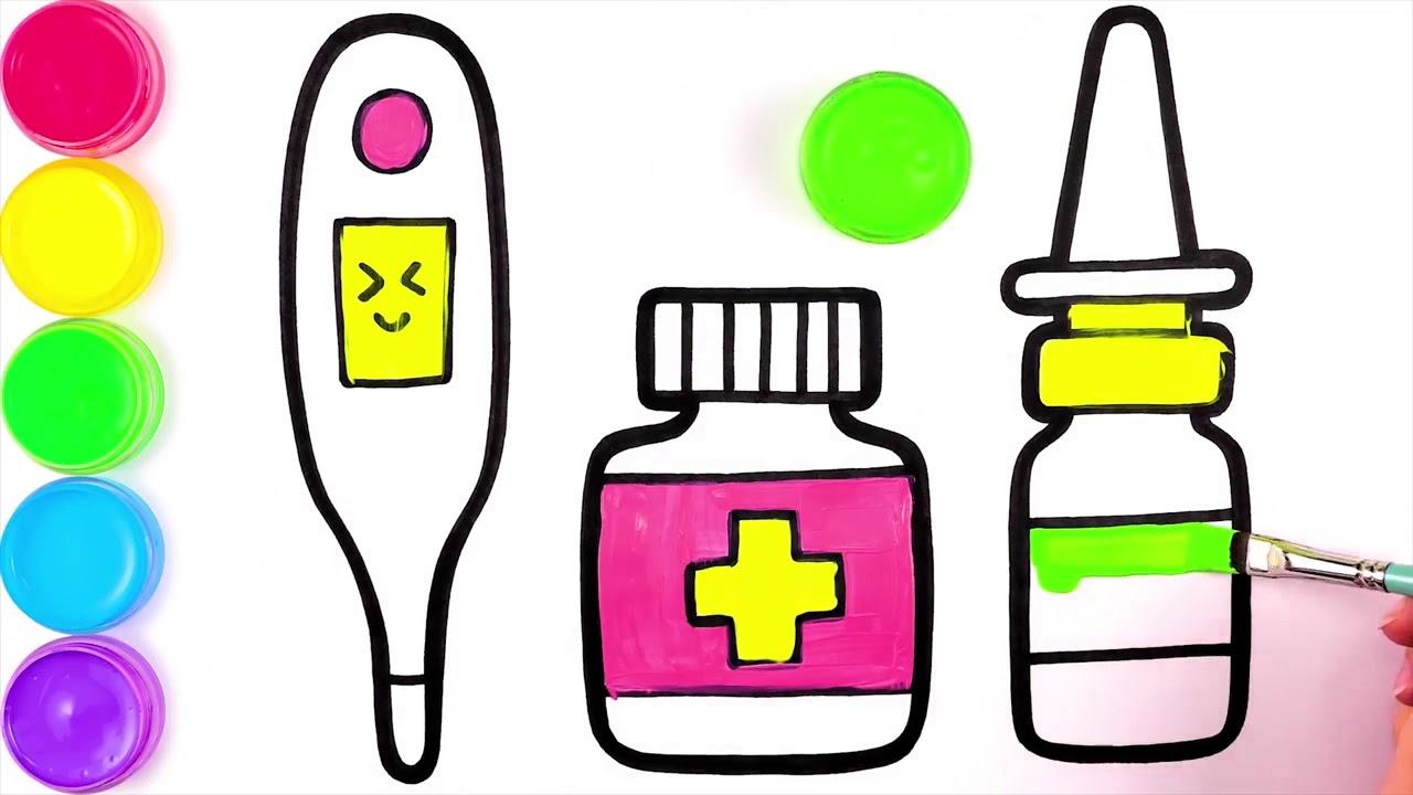 Игрушки доктора, рисунок и раскраска для детей - YouTube
