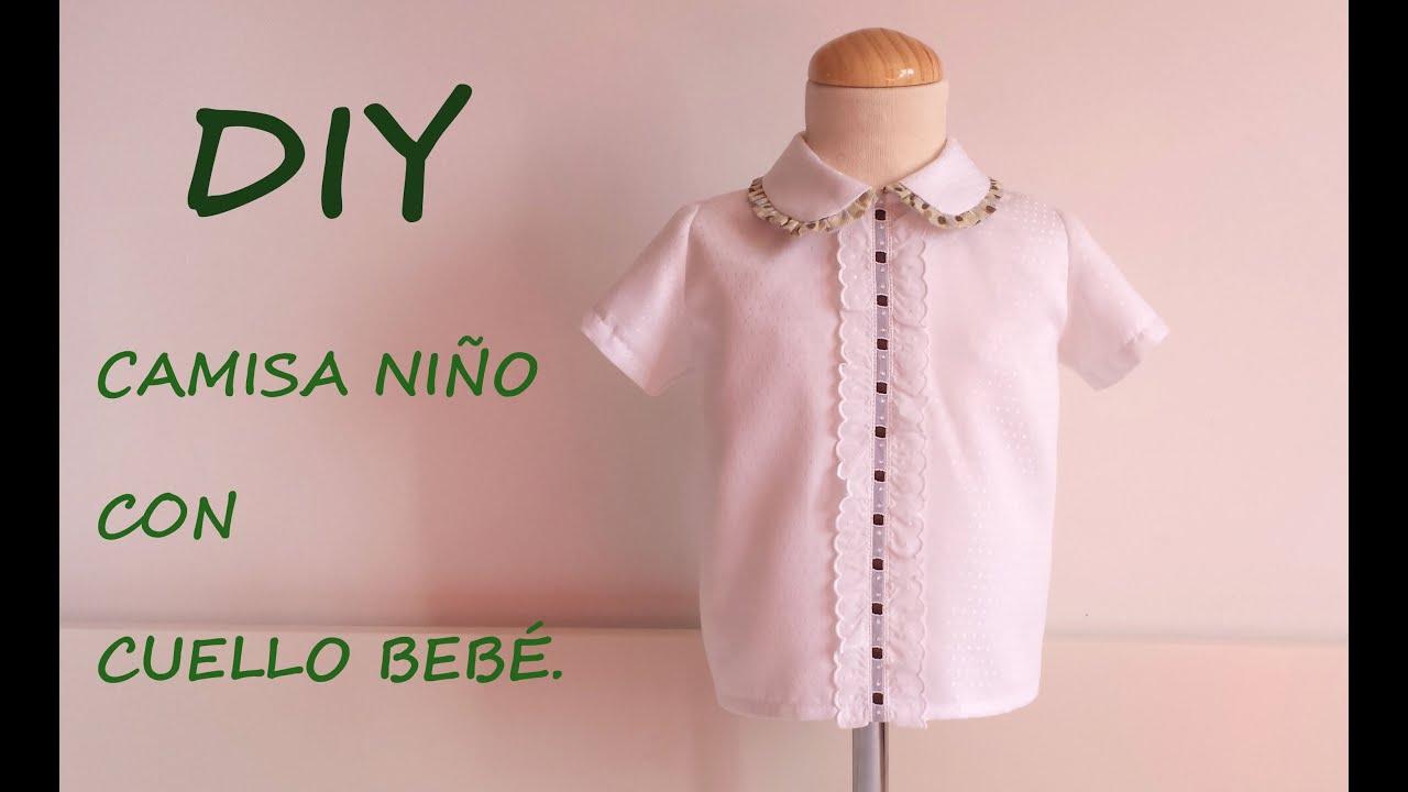 acab64a5c Como hacer una camisa de niño y cuello bebé con Gema de patronesmujer.com