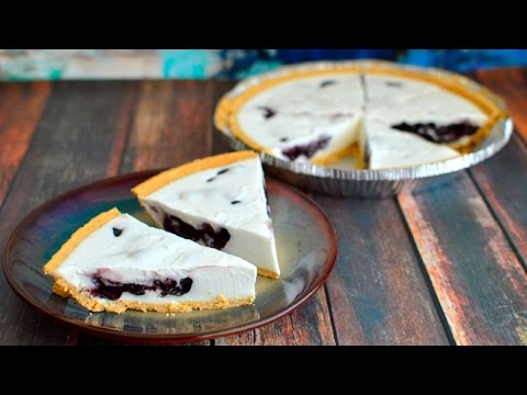 Vegan Blueberry Stuffed Coconut Cream Pie - No Bake!