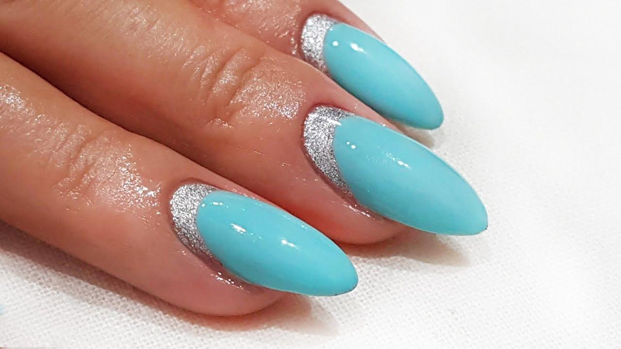 Paznokcie Hybrydowe Zdobienie Cuff Nails Design Youtube