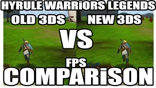 "COMPARISON / Hyrule Warriors Legends // ""old 3DS"" VS ""New 3DS"" // low FPS / low details & more"