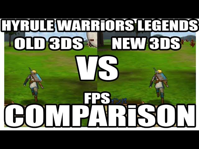 Hyrule Warriors Legend - Comparação de frame rate entre o 3DS e o New 3DS