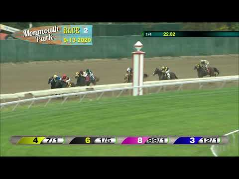 video thumbnail for MONMOUTH PARK 09-13-20 RACE 2