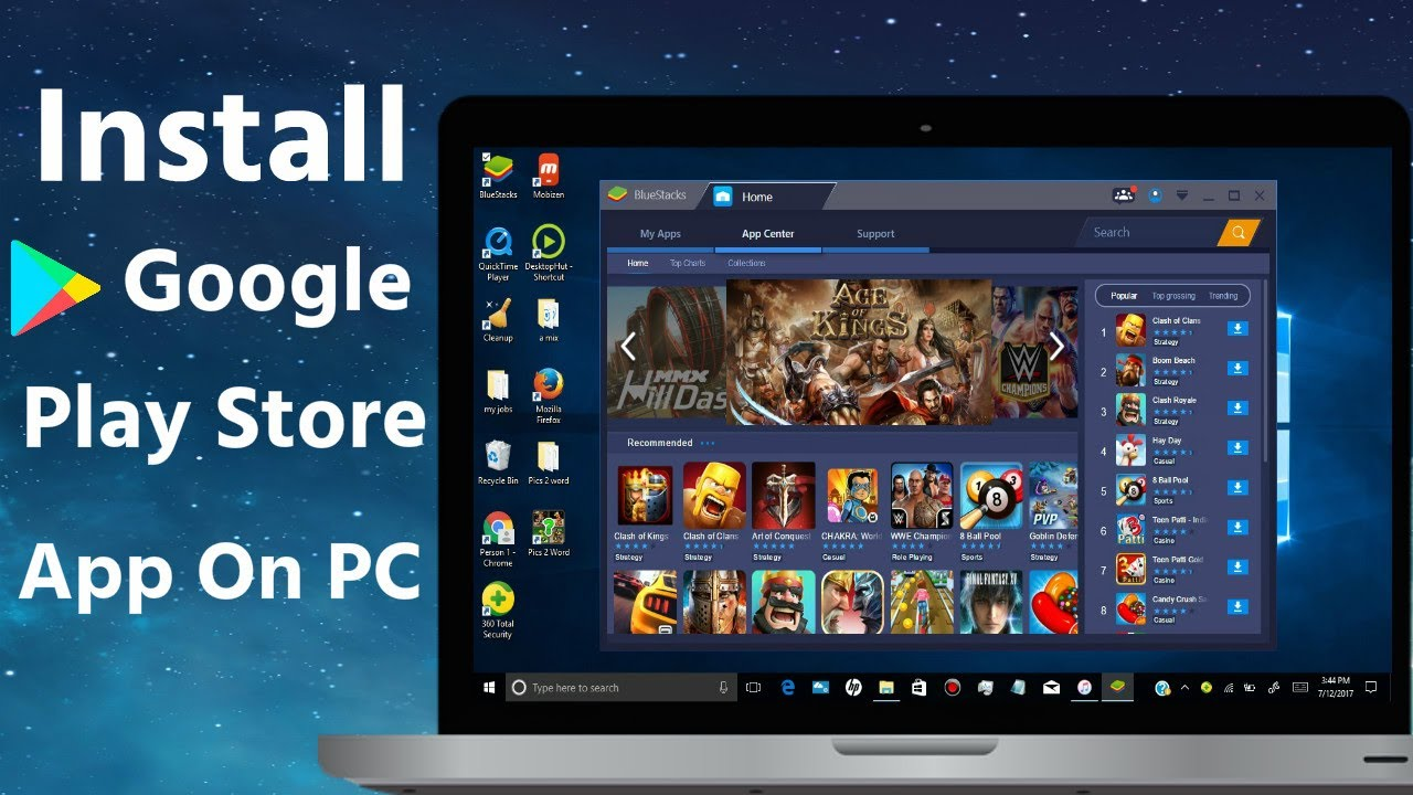 How To Install Google Play Store App On Pc Laptop Youtube