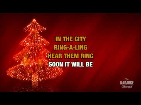 Silver Bells in the style of Traditional | Karaoke with Lyrics