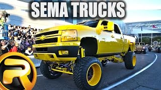 Leaving SEMA Show - Only Trucks!