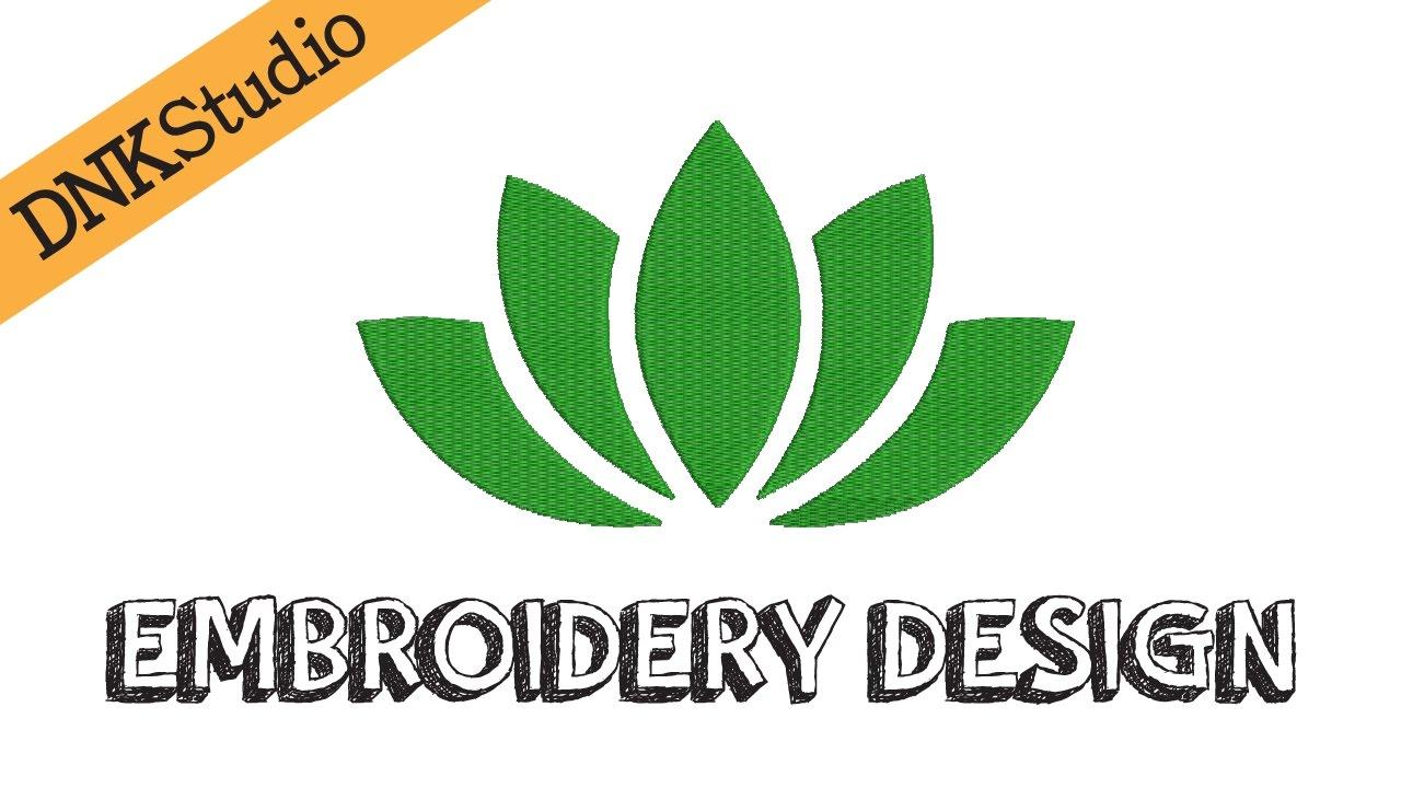 Yoga Lotus Flower Embroidery Design Youtube