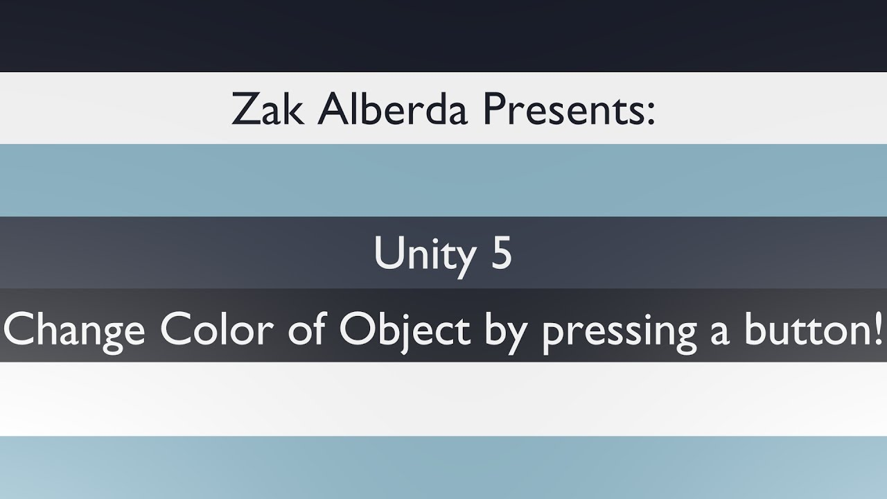 Unity 5 - Change Color of Object When Pressing Button