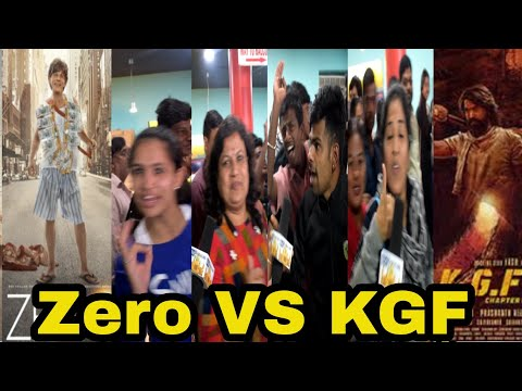 SRK Vs Yash second day first show review | Zero VS KGF Bangalore Public Reaction Excitement