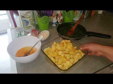 gratin-aux-épinards-et-pomme-de-terre---كراتان-السبانخ-و-البطاطس-اقتصادي-وجد-لذيذ