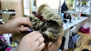 Причёска с помощью резинок .Коса с помощью резинок
