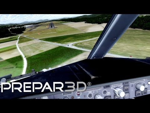 Prepar3D V3.4 LJLJ Ljubljana Circle To Land Runway 12 ULTRA REALISM