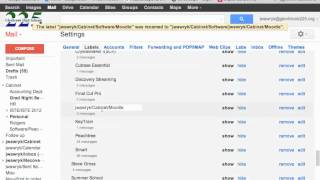 Gmail organize labels