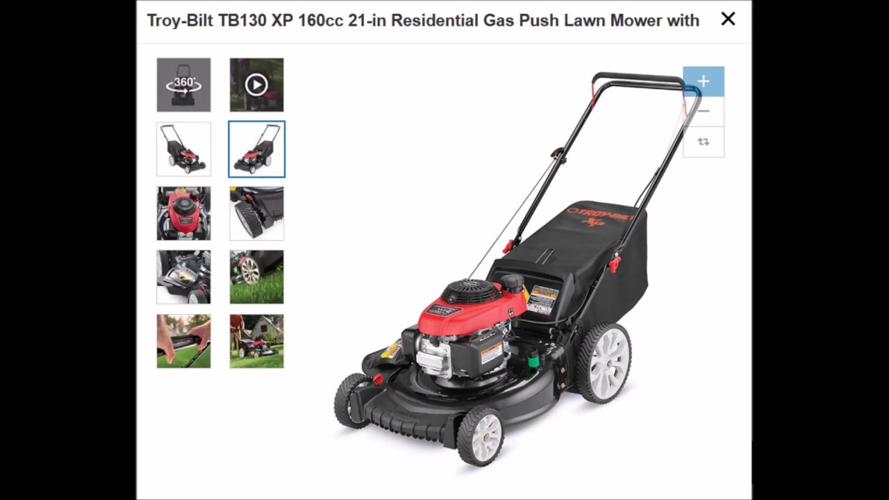 Lowes Push Mower Review Bolens 140cc 21in vs Troy-Bilt TB130 XP 160cc 21in