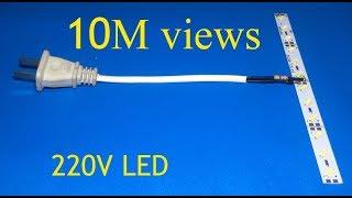 Einfache Möglichkeit zur Verbindung von 12V LEDs an AC 220V