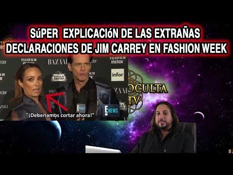 SÚPER EXPLICACIÓN DE LAS EXTRAÑAS DECLARACIONES DE JIM CARREY EN FASHION WEEK 2 de 2
