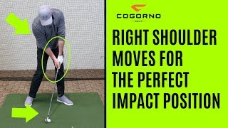 GOLF:  How To Use The Right Shoulder To Create The Perfect Impact Position