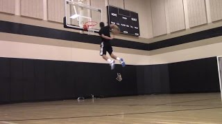 6'1 Isaiah Rivera First Dunk Session of the School Year :: 10 Feet Video