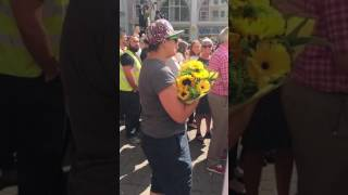 Crowd Joins Woman Singing Don
