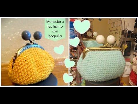 Monedero de ganchillo con boquilla redonda crochet purse for Monedero ganchillo boquilla ovalada